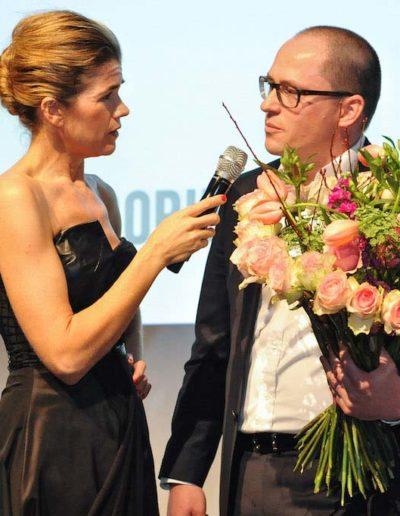 Anke Enelke Bei der Preisverleihung des Fairtrade Award - ©Fleurop